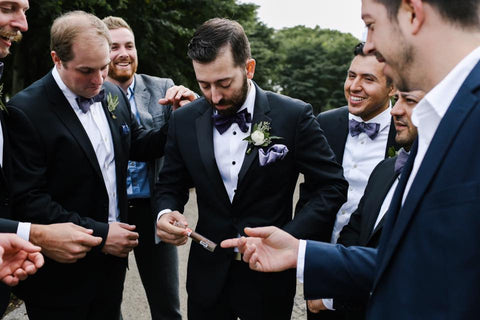 1ef0490570ec How to Fold a Pocket Square for a Wedding - The Groomsman Suit