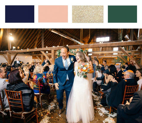 Fall Wedding Colors_Navy_Peach_Gold_Green