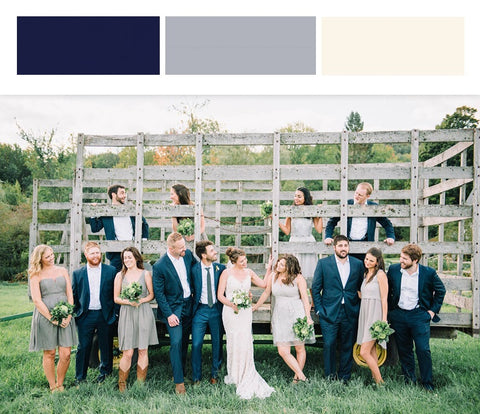Fall Wedding Colors_Gray and Ivory