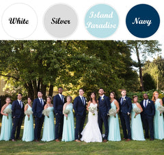2018 spring wedding color trends and mens wedding attire the spring wedding colorsmint and navy groomsmen suits junglespirit