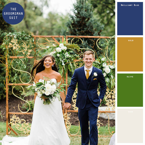 gold spring wedding colors