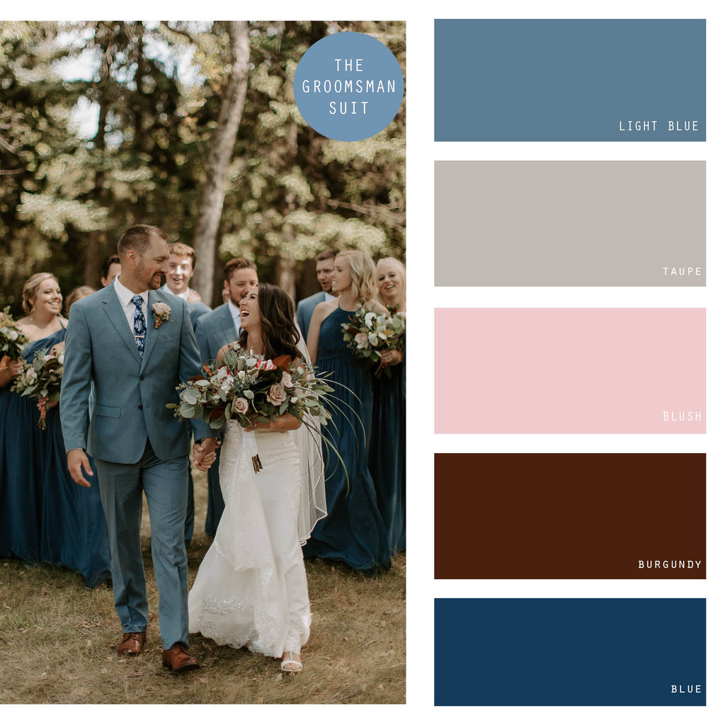 dusty blue summer wedding color palette
