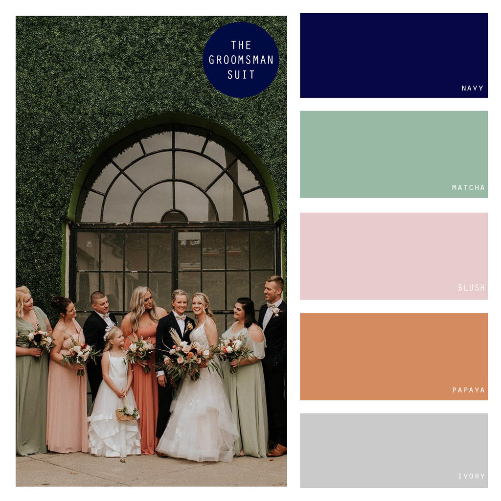 light green summer wedding color palette
