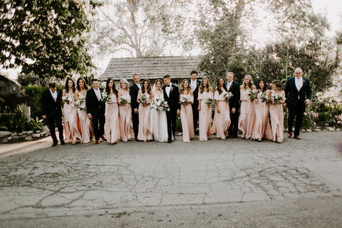 peach and black wedding colors
