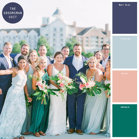 green spring wedding colors