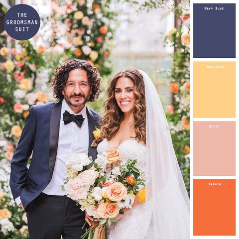 orange spring wedding colors