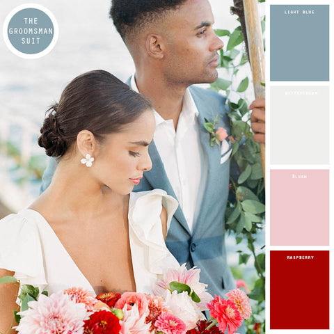 raspberry spring wedding colors