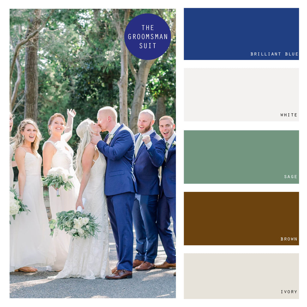 white wedding color palette