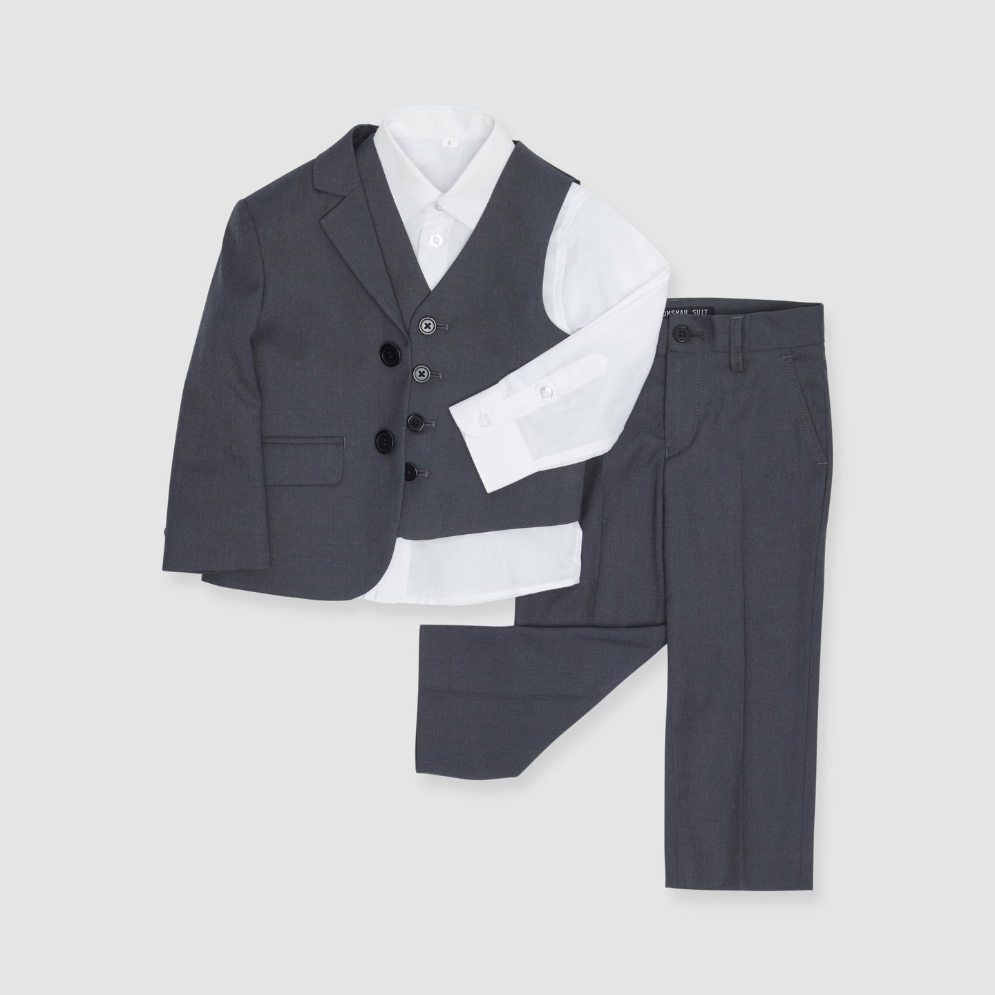 Charcoal Gray Boy's Suit