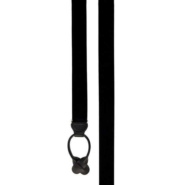 Grosgrain Solid Black Suspenders