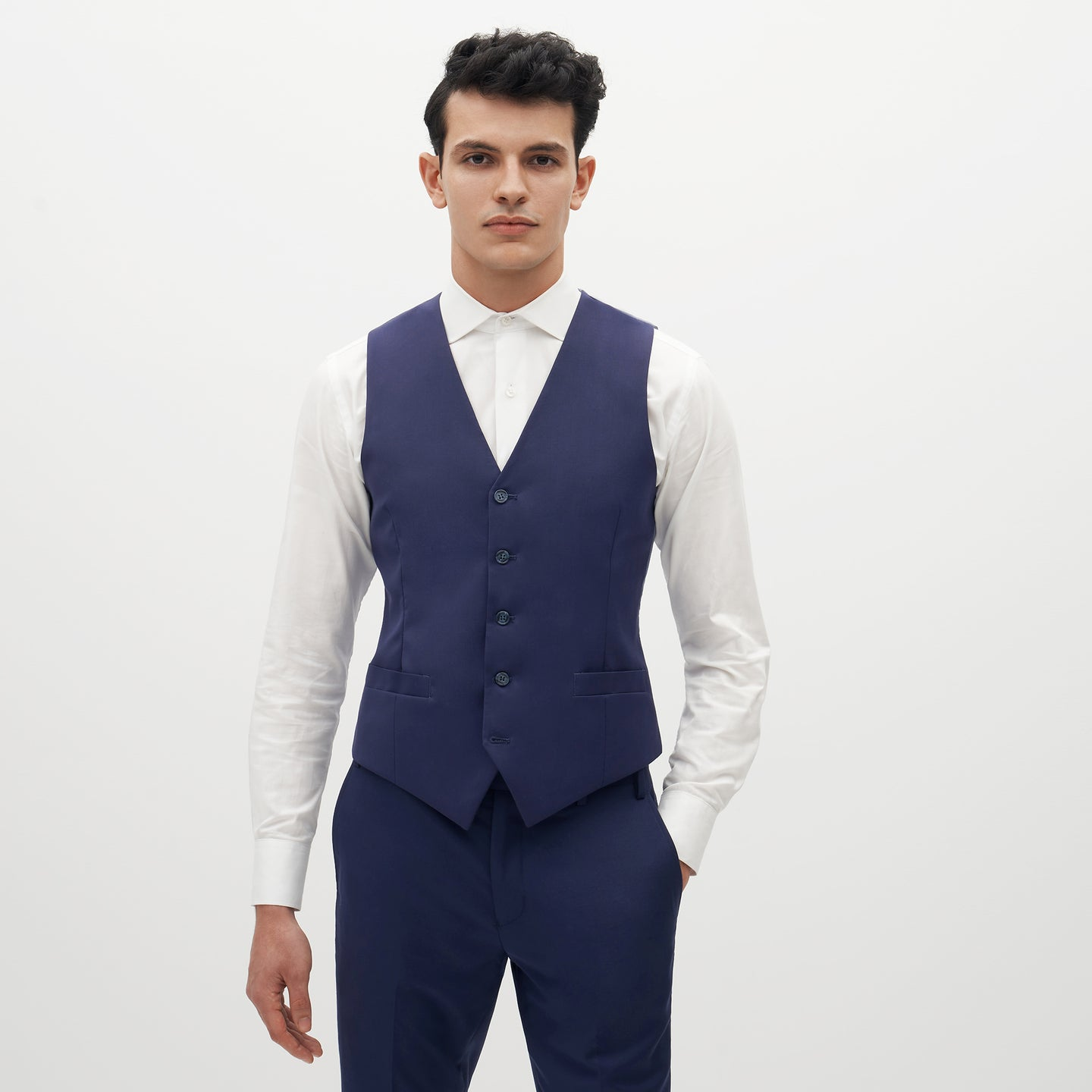 Brilliant Blue Suit Vest