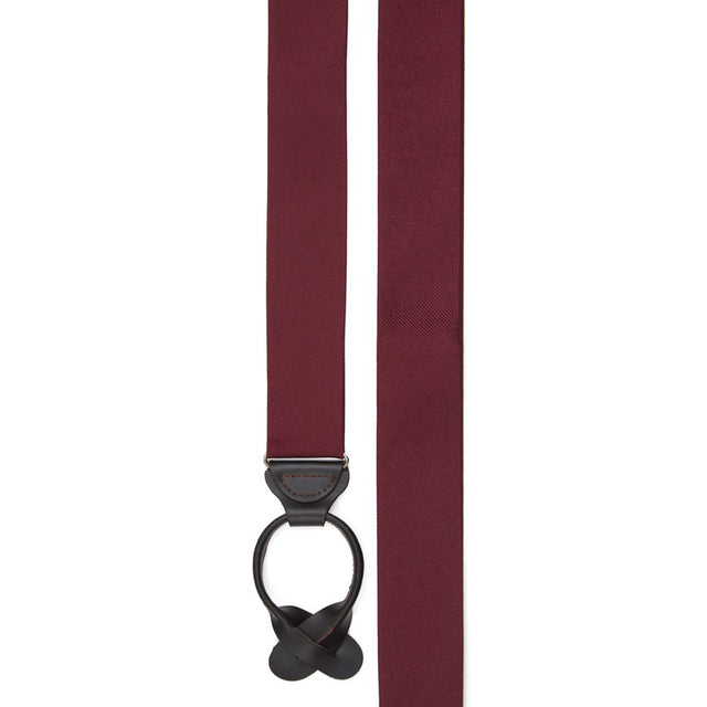 Grosgrain Solid Burgundy Suspenders