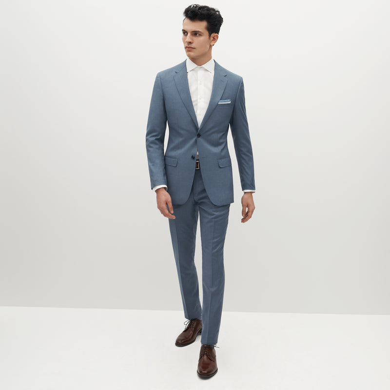 Light Blue Suit Pants