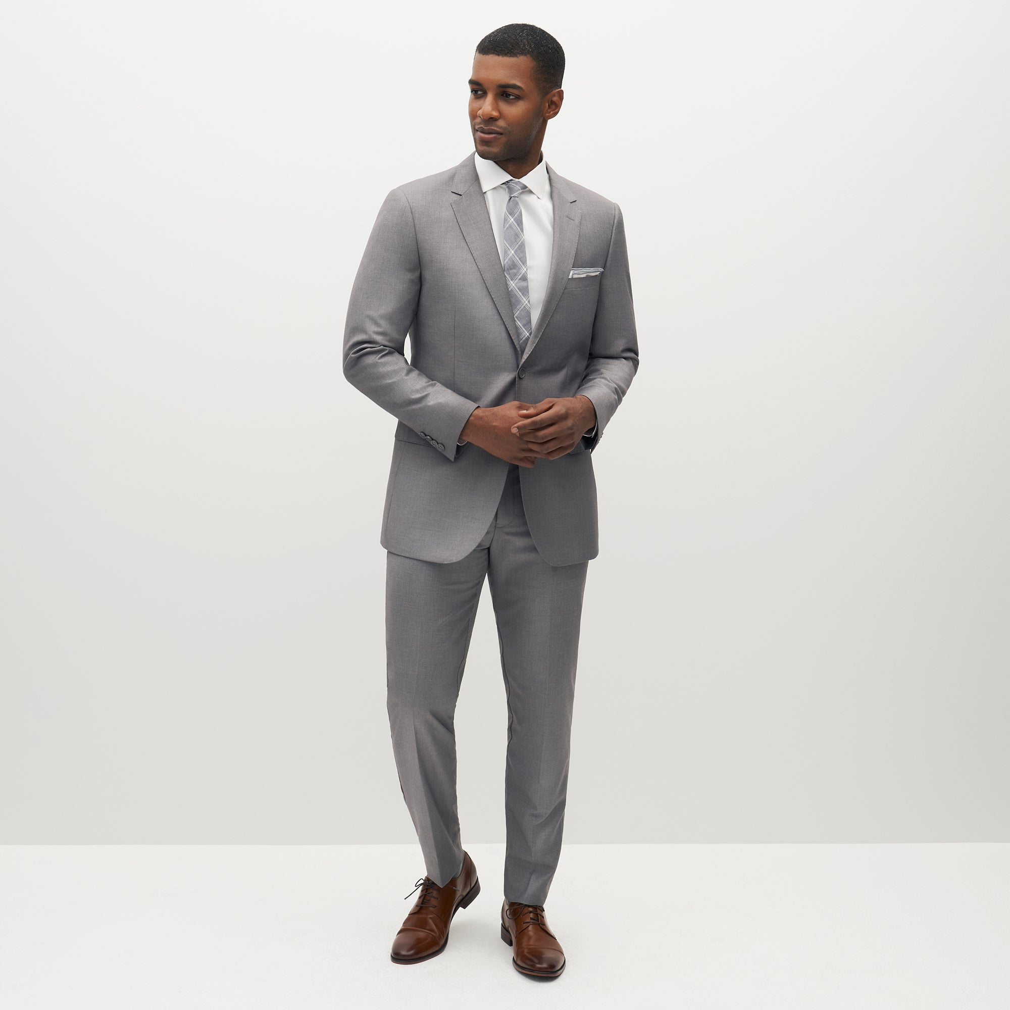 Textured Gray Suit