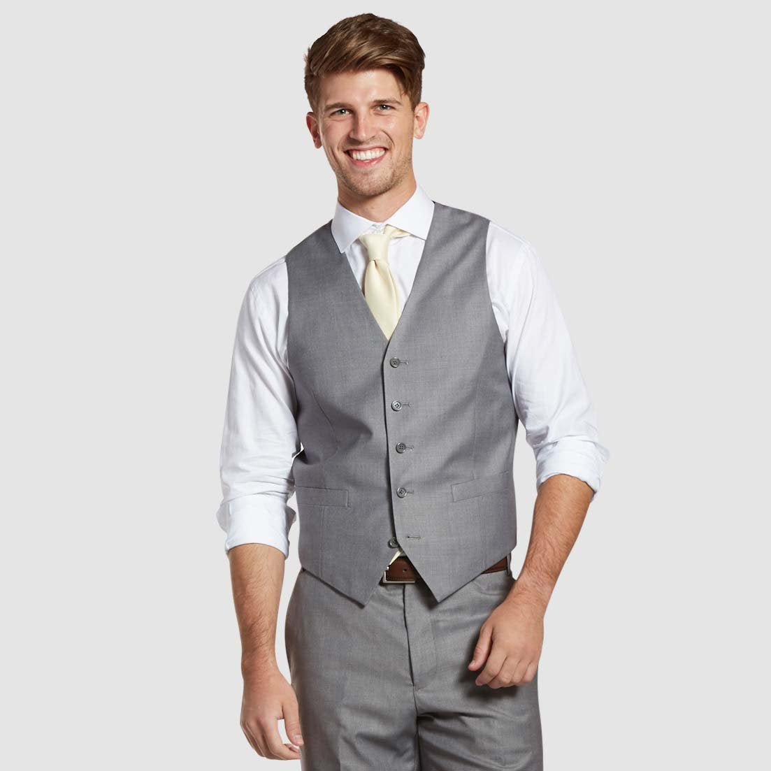 MOTIVES Textured Gray Suit Vest
