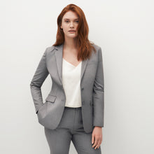 Load image into Gallery viewer, Women's Textured Gray Suit Jacket