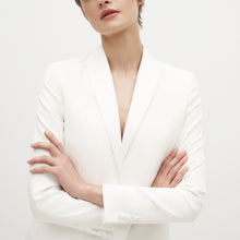Load image into Gallery viewer, Women's White Tuxedo Jacket