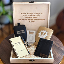 Load image into Gallery viewer, Personalized Black Gift Set