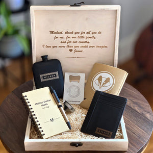 Personalized Black Gift Set