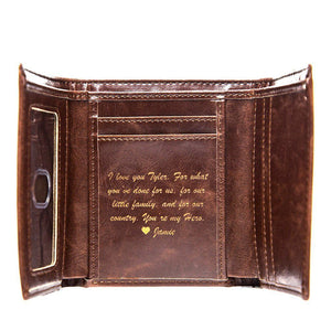 Personalized Trifold Wallet