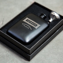 Load image into Gallery viewer, Personalized Matte Black Hip Flask