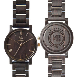 Personalized Ebony Links Watch