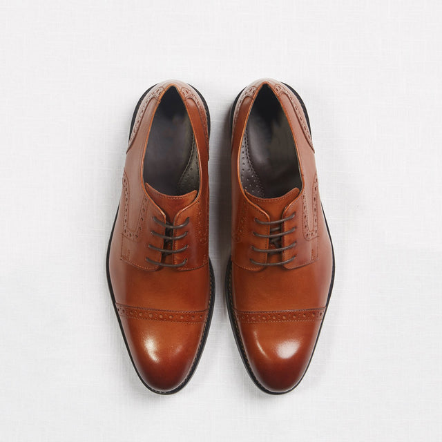 Tan Oxford Shoes - PRESCOTT