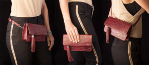 The Beautiful & Sophisticated Look of the Alma Leather Clutch