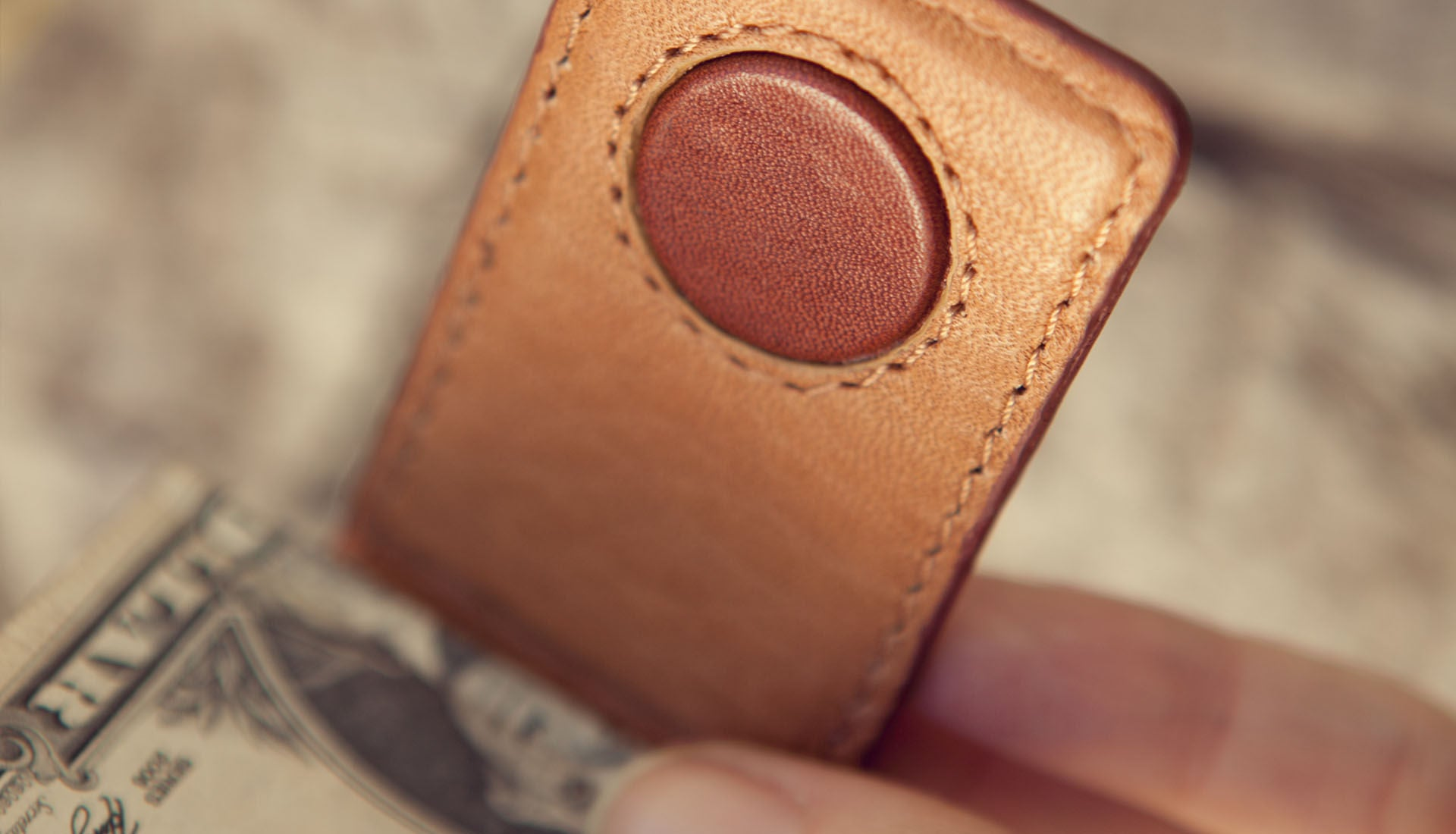 Premium Leather Money Clip