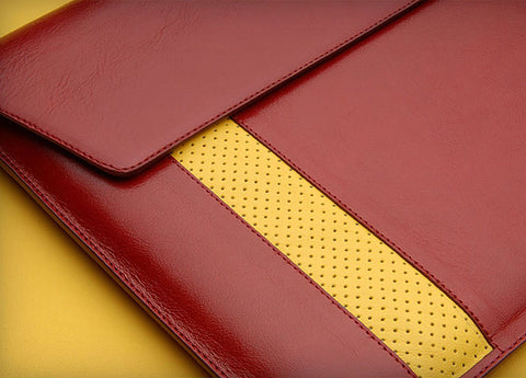 Premium leather pouch for MacBook Air 13''