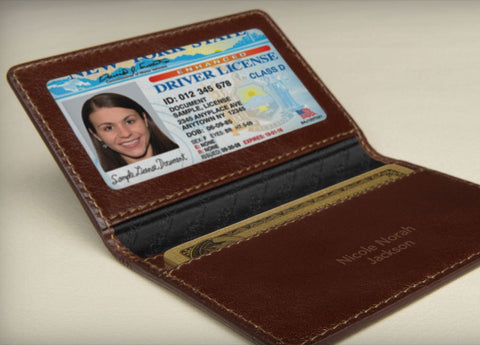 Leather ID and Cards Holder