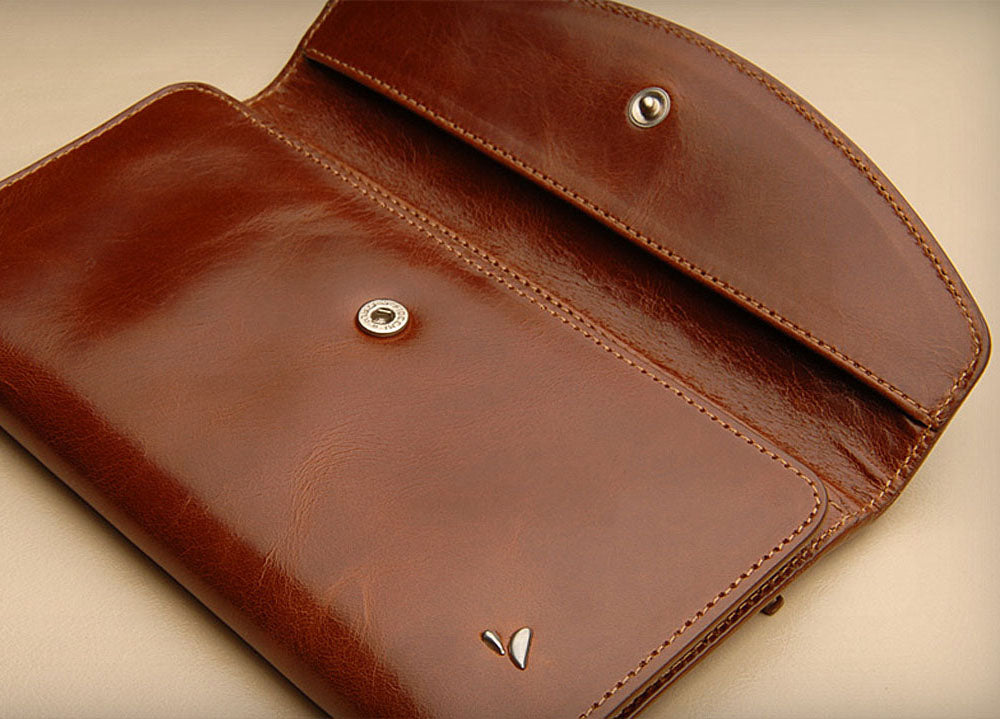 Classic Leather Horizontal Lady Wallet