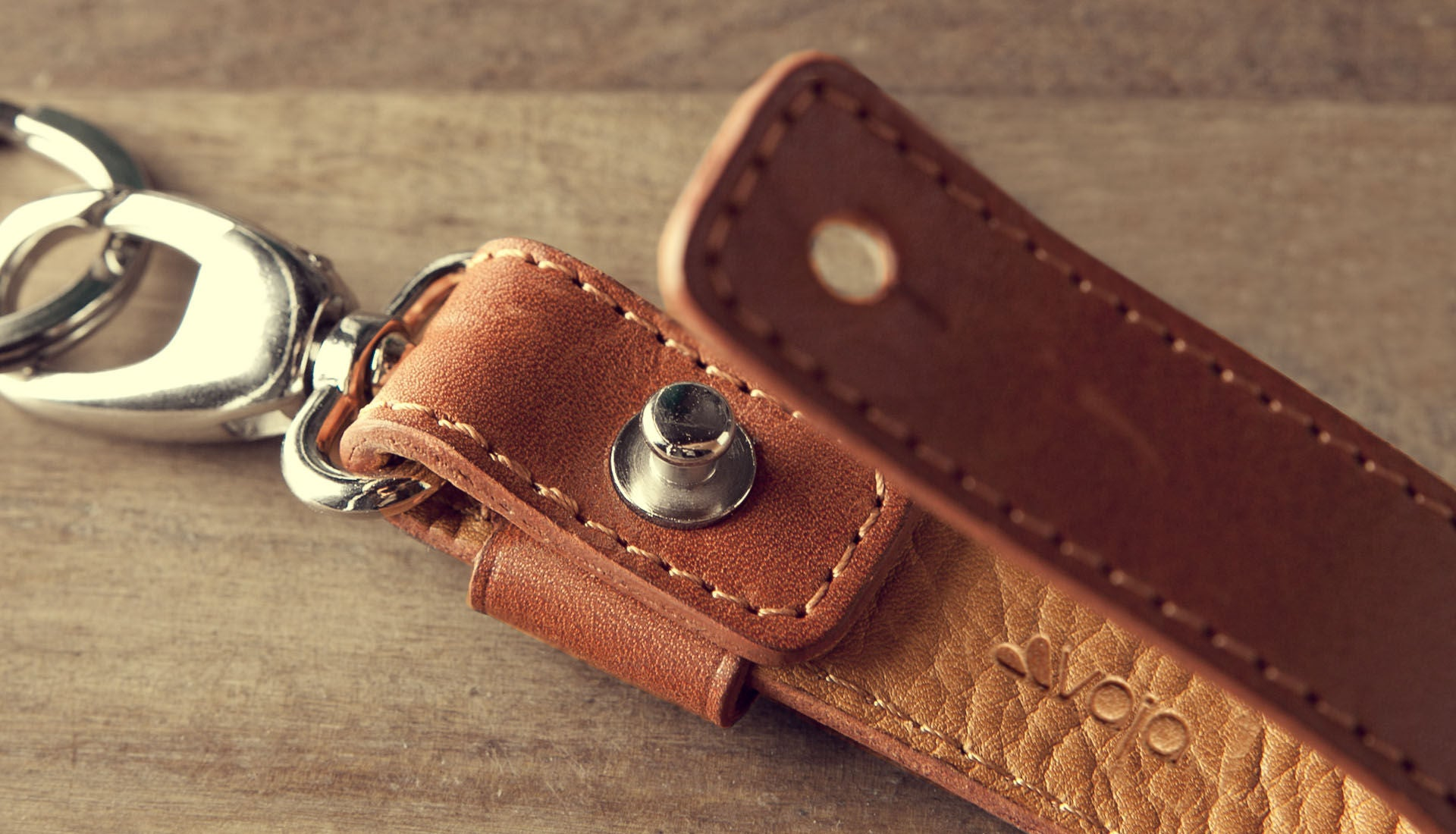 Premium Leather Loop Key Ring