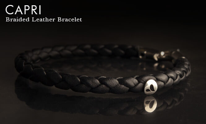 Capri Braided Leather Bracelet