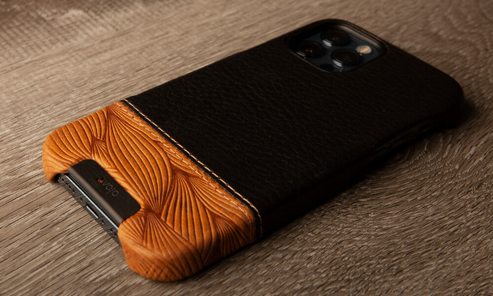 Customizable Grip Duo iPhone 12 & 12 Pro Leather Case
