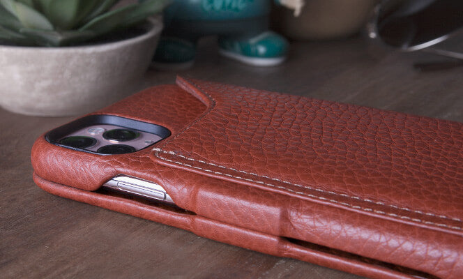 Folio Wallet Stand iPhone 11 Pro Max leather case