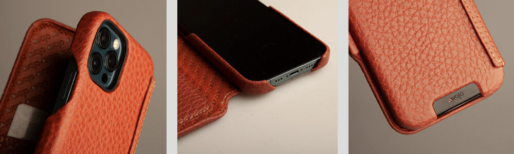 iPhone 12 Pro Max Folio Leather Case with MagSafe