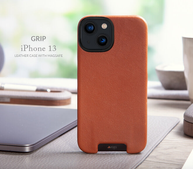 Grip iPhone 13 MagSafe leather case
