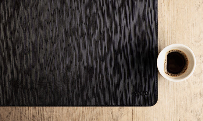 legno leather placemat