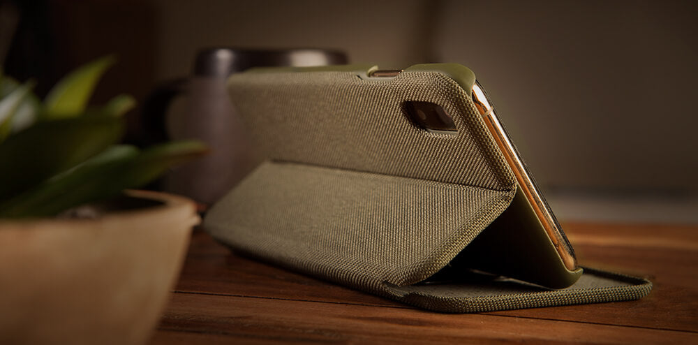 Folio Stand Cordura iPhone Xr Fabric Case