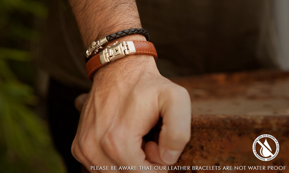 Porto Braided Leather Bracelet