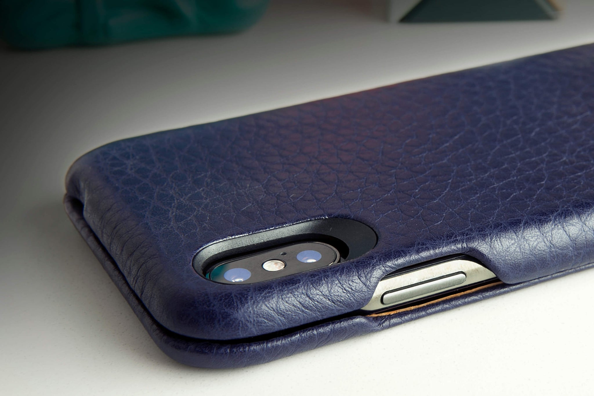 Top iPhone X / iPhone Xs Leather Case