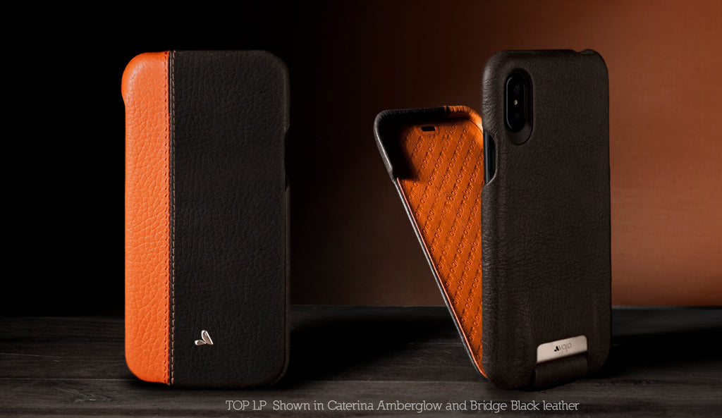 Top LP Custom iPhone X / iPhone Xs Leather Case