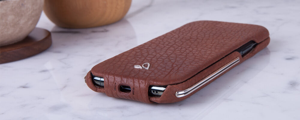 Custom Top Silver iPhone 11 Pro Leather Case