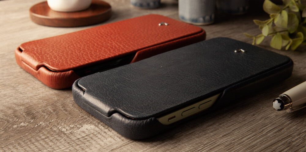 Customizable Top iPhone 12 & 12 Pro leather case with MagSafe