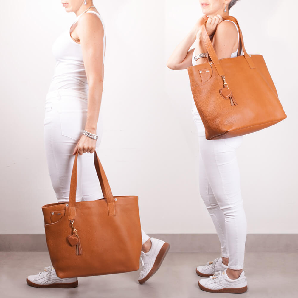 Premium Leather Tote Handbag