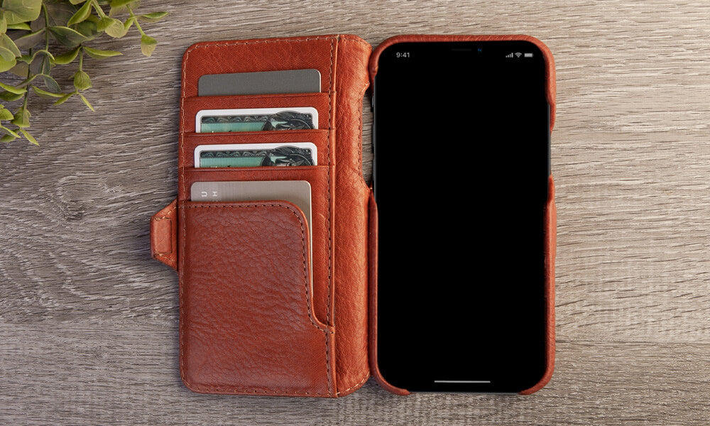 iPhone 12 pro Wallet leather case