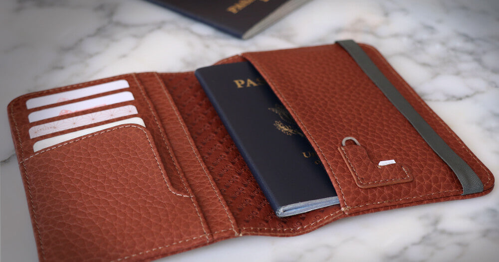 Alpha Leather Passport Holder