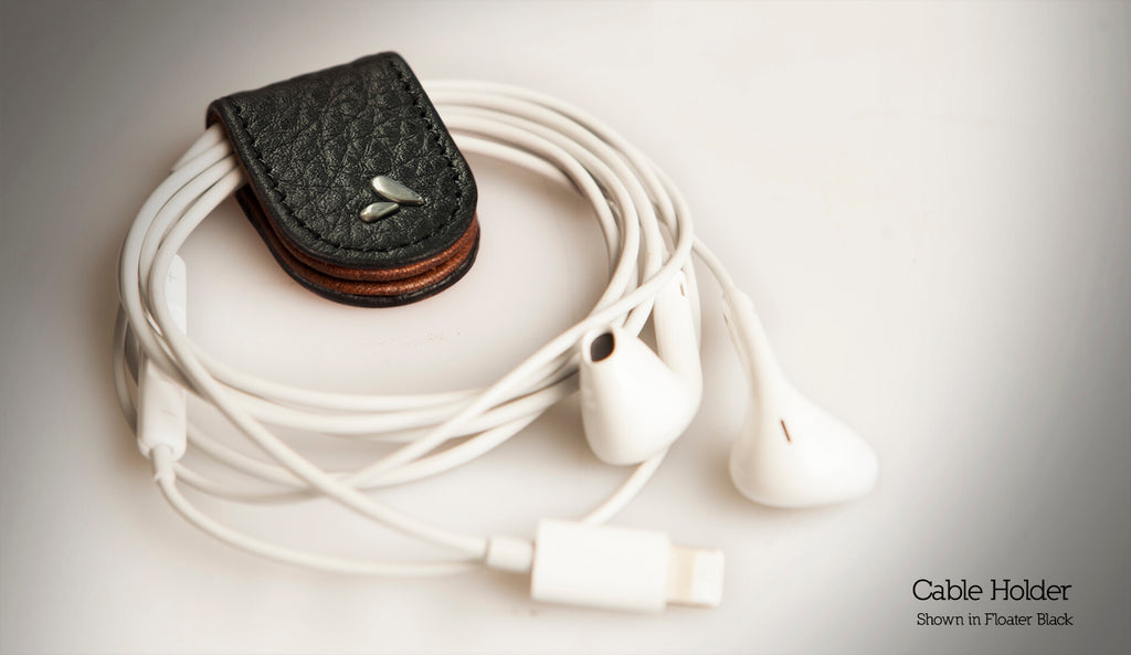 Cable Holder Leather Case
