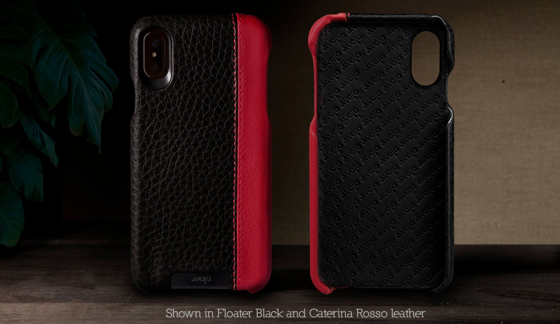 Customizable Grip LP for iPhone X Leather Case
